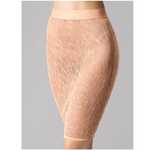 NWT Wolford pinky nude sheer lace skirt/ slip